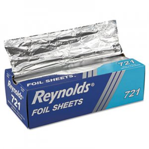 Reynolds Wrap Interfolded Aluminum Foil Sheets, 12 x 10 3/4, Silver, 500/Box, 6 Boxes/Carton RFP721 000000000000000721