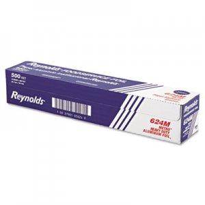 "Reynolds Wrap Metro Aluminum Foil Roll, Light Gauge, 18"" x 500 ft, Silver RFP624M 624M"
