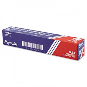 "Reynolds Wrap Heavy Duty Aluminum Foil Roll, 18"" x 500 ft, Silver RFP624 000000000000000624"