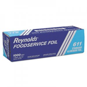 "Reynolds Wrap Metro Aluminum Foil Roll, Lighter Gauge Standard, 12"" x 1000 ft, Silver RFP611M 611M"