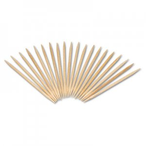 "AmerCareRoyal Round Wood Toothpicks, 2 1/2"", Natural, 19200/Carton RPPR820 RPP R820"