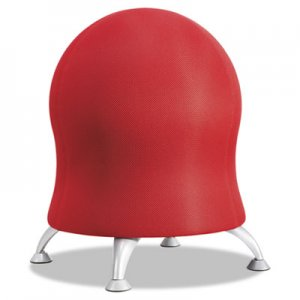 Safco Zenergy Ball Chair, Crimson Seat/Crimson Back, Silver Base SAF4750CI 4750CI