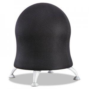 Safco Zenergy Ball Chair, Black Seat/Black Back, Silver Base SAF4750BL 4750BL