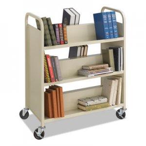 Safco Steel Book Cart, Six-Shelf, 36w x 18.5d x 43.5h, Sand SAF5357SA 5357SA