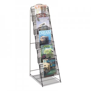 Safco Onyx Magazine Floor Rack, 12.5w x 18.5d x 46h, Black SAF6461BL 6461BL