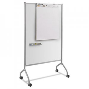 Safco Impromptu Magnetic Whiteboard Collaboration Screen, 42w x 21.5d x 72h, Gray/White SAF8511GR 8511GR