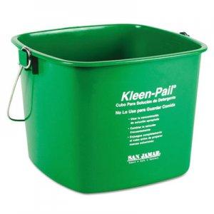 San Jamar Kleen-Pail, 6qt, Plastic, Green, 12/Carton SJMKP196GN KP196GN