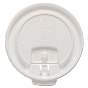 Dart Liftback & Lock Tab Cup Lids for Foam Cups, Fits 10 oz Trophy Cups, WE, 100/PK SCCDLX10RPK DLX10R-00007
