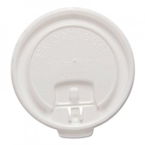 Dart Liftback & Lock Tab Cup Lids for Foam Cups, Fits 12 oz Trophy Cups, WE, 100/PK SCCDLX12RPK DLX12R-00007