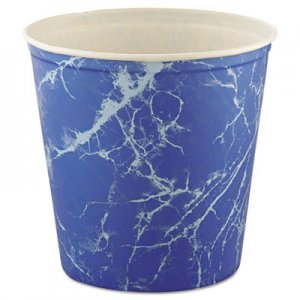 Dart Double Wrapped Paper Bucket, Waxed, Blue Marble, 165oz, 100/Carton SCC10T3M SCC 10T3-00069