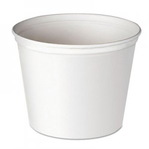 Dart Double Wrapped Paper Bucket, Unwaxed, White, 165oz, 100/Carton SCC10T1UU SCC 10T1UU