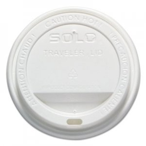 Dart Traveler Cappuccino Style Dome Lid, 12-16oz Hot Cups, White, 50/Pack, 6 Packs/Carton SCCOFTL160007 OFTL16-0007