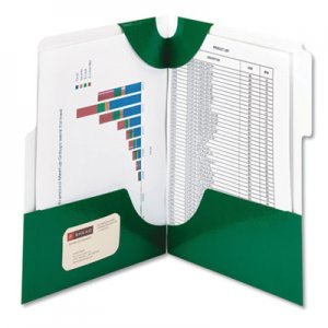 Smead SuperTab Two-Pocket Folder, 11 x 8 1/2, Green, 5/Pack SMD87965 87965