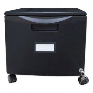 Storex Single-Drawer Mobile Filing Cabinet, 14.75w x 18.25d x 12.75h, Black STX61264B01C 61264B01C