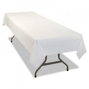 Tablemate Rectangular Table Cover, Heavyweight Plastic, 54 x 108, White, 24 Each/Carton TBL549WHCT 549WHCT