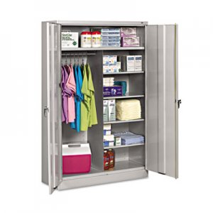 Tennsco Jumbo Combination Steel Storage Cabinet, 48w x 24d x 78h, Light Gray TNNJ2478SUCLGY J2478SUCLGY