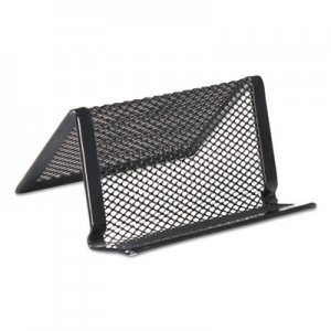 Genpak Mesh Metal Business Card Holder, 50 2 1/4 x 4 Cards, Black UNV20005