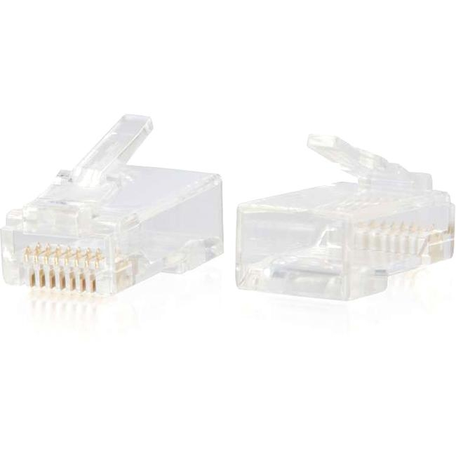 C2G RJ45 Cat6 Modular Plug for Round Solid/Stranded Cable - 10pk 00887