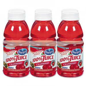 Ocean Spray 100% Juice, Cranberry, 10oz Bottle, 6/Pack OCS00066 OCE00066