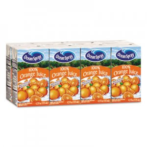 Ocean Spray Aseptic Juice Boxes, 100% Orange, 4.2oz, 40/Carton OCS23856 OCE23856