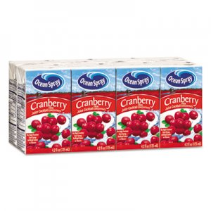 Ocean Spray Aseptic Juice Boxes, Cranberry, 4.2oz, 40/Carton OCS23855 OCE23855