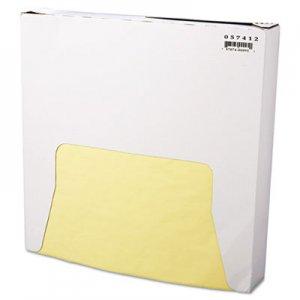 Bagcraft Grease-Resistant Wrap/Liner, 12 x 12, Yellow, 1000/Box, 5 Boxes/Carton BGC057412 P057412