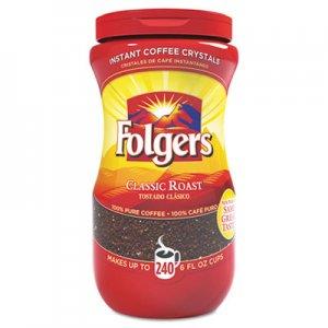 Folgers Instant Coffee Crystals, Classic Roast, 16oz Jar FOL06922 2550006923
