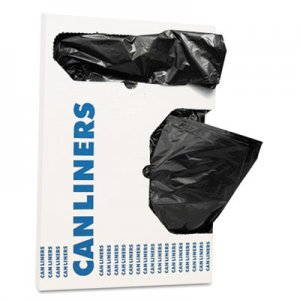 """AccuFit Linear Low Density Can Liners with AccuFit Sizing, 16 gal, 1 mil, 24"""" x 32"""", Black, 250/Carton HERH4832TKX01"""