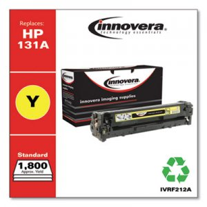 Innovera Remanufactured Yellow Toner, Replacement for HP 131A (CF212A), 1,800 Page-Yield IVRF212A