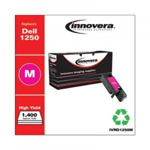 Innovera Remanufactured Magenta High-Yield Toner, Replacement for Dell 1250 (331-0780), 1,400 Page-Yield IVRD1250M