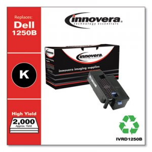 Innovera Remanufactured Black High-Yield Toner, Replacement for Dell 1250 (331-0778), 2,000 Page-Yield IVRD1250B