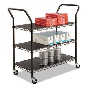 Safco Wire Utility Cart, Three-Shelf, 43-3/4w x 19-1/4d x 40-1/2h, Black SAF5338BL 5338BL
