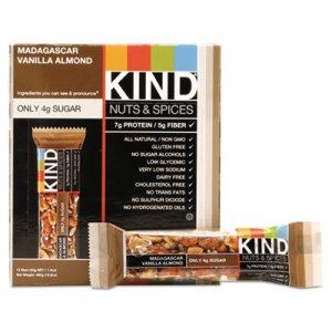 KIND Nuts and Spices Bar, Madagascar Vanilla Almond, 1.4 oz, 12/Box KND17850 17850