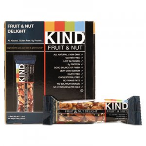 KIND Fruit and Nut Bars, Fruit and Nut Delight, 1.4 oz, 12/Box KND17824 17824