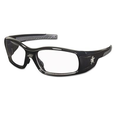 Crews Swagger Safety Glasses, Black Frame, Clear Lens SR110 CRWSR110