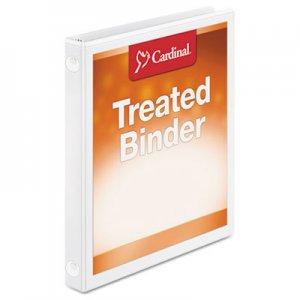 "Cardinal Treated Binder ClearVue Locking Round Ring Binder, 3 Rings, 0.63"" Capacity, 11 x 8.5, White CRD32250 32250"