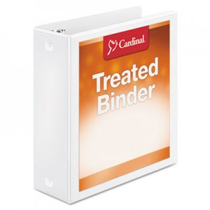 "Cardinal Treated Binder ClearVue Locking Round Ring Binder, 3"" Cap, 11 x 8 1/2, White CRD32230 32230"