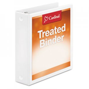 "Cardinal Treated Binder ClearVue Locking Round Ring Binder, 2"" Cap, 11 x 8 1/2, White CRD32220 32220"
