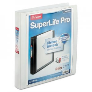 "Cardinal SuperLife Pro Easy Open ClearVue Locking Slant-D Ring Binder, 3 Rings, 1.5"" Capacity, 11 x 8.5"