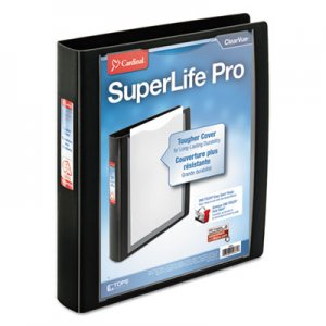 "Cardinal SuperLife Pro Easy-Open ClearVue Locking Slant-D Binder, 1.5"", 11 x 8 1/2, Black CRD54661 54661"