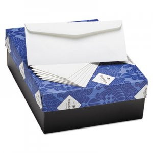 Strathmore Writing 25% Cotton Business Envelopes, #10, Bankers Flap, Gummed Closure, 4.13 x 9.5, Bright White, 500/Box