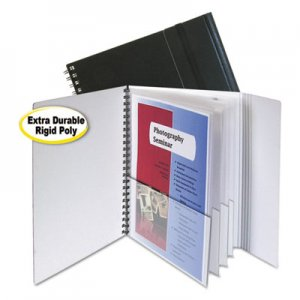 C-Line Eight-Pocket Portfolio with Security Flap, Polypropylene, 8 1/2 x 11, Black CLI32881 32881