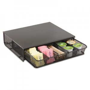 Safco One Drawer Hospitality Organizer, 5 Compartments, 12 1/2 x 11 1/4 x 3 1/4, Bk SAF3274BL