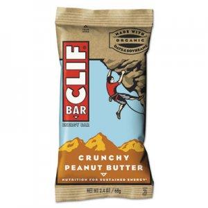 CLIF Bar Energy Bar, Crunchy Peanut Butter, 2.4oz, 12/Box CBC50120 CCC50120