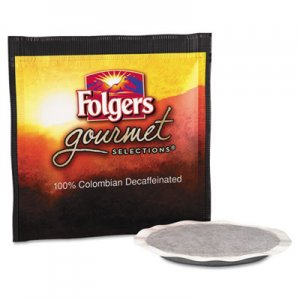 Folgers Gourmet Selections Coffee Pods, 100% Colombian Decaf, 18/Box FOL63101 2550063101