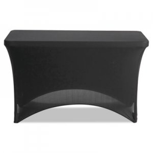 "Iceberg Stretch-Fabric Table Cover, Polyester/Spandex, 24"" x 48"", Black ICE16511 16511"