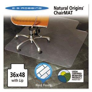 ES Robbins Natural Origins Chair Mat with Lip For Hard Floors, 36 x 48, Clear ESR143002 143002