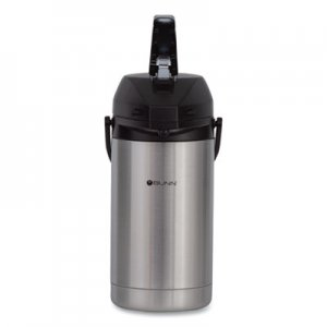 BUNN 3 Liter Lever Action Airpot, Stainless Steel/Black BUNAIRPOT30 32130.0000