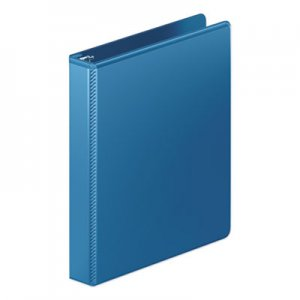 "Wilson Jones Heavy-Duty Round Ring View Binder w/Extra-Durable Hinge, 1"" Cap, PC Blue WLJ363147462 W363-14-7462PP"