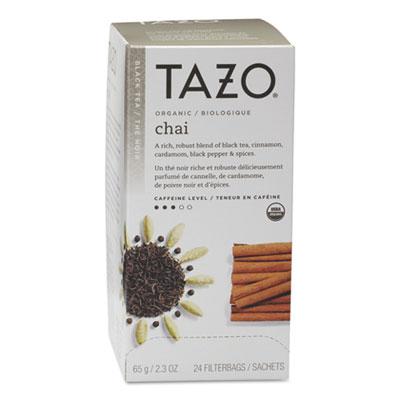 Tazo Chai Organic Black Tea, Filter Bag, 24/Box TZO149904 TJL21010